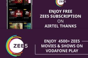 Step By Step Guide To Avail Free ZEE5 Subscription On Airtel Thanks & Vodafone Play